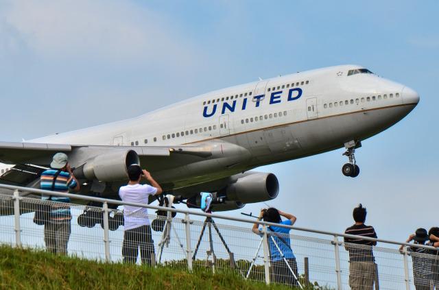パンダさんが、成田国際空港で撮影したユナイテッド航空 747-422の航空フォト(飛行機 写真・画像)