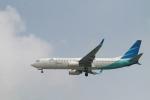 matsuさんが、シンガポール・チャンギ国際空港で撮影したガルーダ・インドネシア航空 737-8U3の航空フォト(飛行機 写真・画像)
