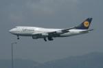 しんさんが、香港国際空港で撮影したルフトハンザドイツ航空 747-430の航空フォト(写真)