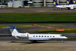 パンダさんが、羽田空港で撮影したQUALCOMM INC G-Vの航空フォト(写真)