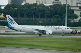 goshiさんが、シンガポール・チャンギ国際空港で撮影したインドネシア・エア・トランスポート A320-212の航空フォト(飛行機 写真・画像)