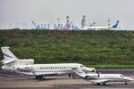 パンダさんが、羽田空港で撮影したUNITED TECHNOLOGIES CORP Falcon 7Xの航空フォト(写真)