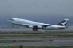 アイスコーヒーさんが、関西国際空港で撮影したキャセイパシフィック航空 747-467の航空フォト(飛行機 写真・画像)