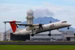 t!!!!!!さんが、鹿児島空港で撮影した日本エアコミューター DHC-8-402Q Dash 8の航空フォト(写真)