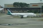 しんさんが、シンガポール・チャンギ国際空港で撮影したシルクエア A319-133の航空フォト(写真)