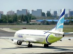 delawakaさんが、青島流亭国際空港で撮影したエアプサン 737-48Eの航空フォト(飛行機 写真・画像)