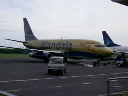 garudaさんが、アジスチプト国際空港で撮影したマンダラ・エアラインズ 737-2E7/Advの航空フォト(飛行機 写真・画像)