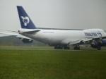 蔵のもろこしに手を出したらあかんさんが、ロンドン・スタンステッド空港で撮影したアトラス航空 747-87UF/SCDの航空フォト(写真)