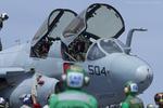 Scotchさんが、米海軍空母ジョージ・ワシントン - USS George Washington, CVN-73で撮影したアメリカ海軍 EA-6B Prowler (G-128)の航空フォト(飛行機 写真・画像)