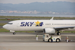 WING_ACEさんが、関西国際空港で撮影したスカイマーク 737-8FZの航空フォト(飛行機 写真・画像)