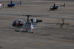 へりさんが、名古屋飛行場で撮影したアカギヘリコプター SA315B Lamaの航空フォト(写真)