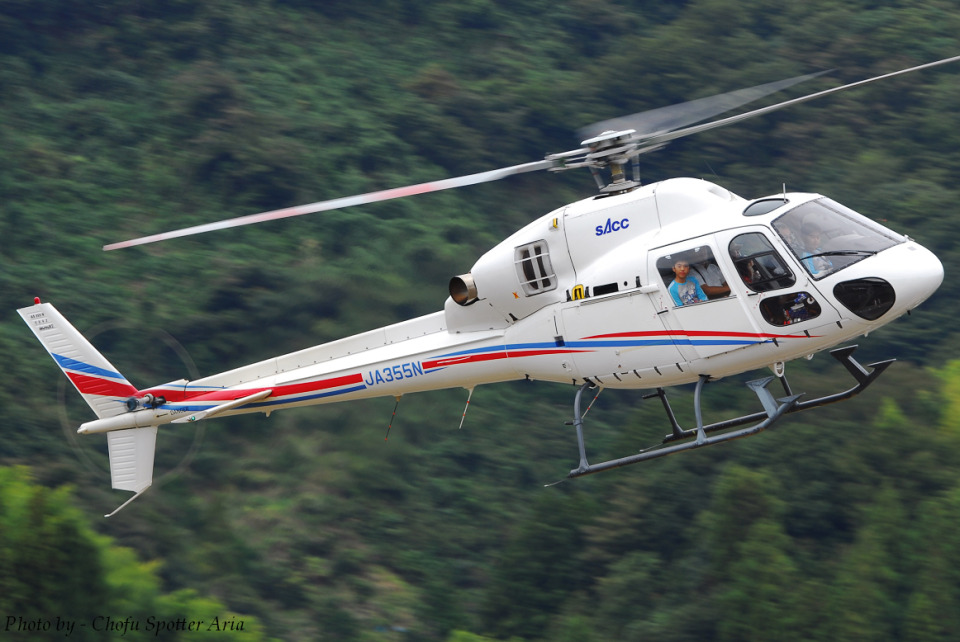 Chofu Spotter Ariaさんの静岡エアコミュータ Aerospatiale AS355 Ecureuil 2/TwinStar (JA355N) 航空フォト