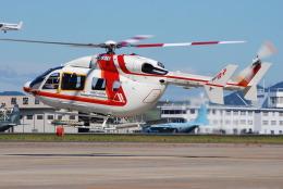 へりさんが、名古屋飛行場で撮影した朝日航洋 BK117C-2の航空フォト(写真)