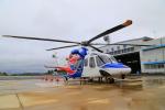 ふじいあきらさんが、広島空港で撮影した広島県防災航空隊 AW139の航空フォト(飛行機 写真・画像)