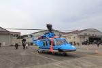たまさんが、立川飛行場で撮影した警察庁 AW139の航空フォト(写真)