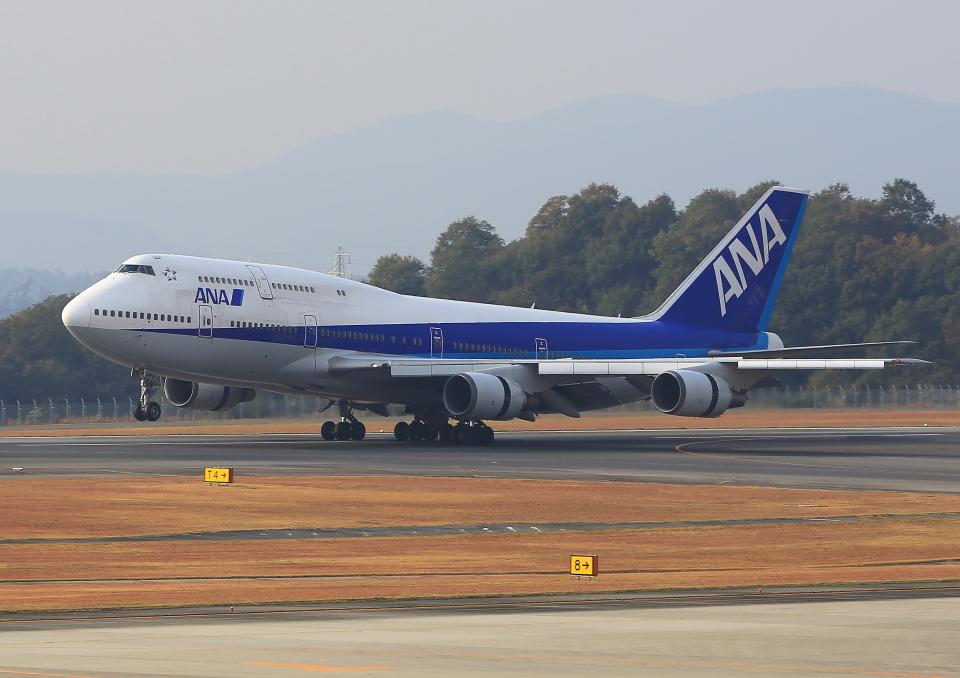 ふじいあきらさんの全日空 Boeing 747-400 (JA8966) 航空フォト