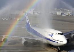 ストロベリーさんが、中部国際空港で撮影した全日空 747-481(D)の航空フォト(飛行機 写真・画像)