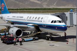 apphgさんが、ラサ・クンガ空港で撮影した中国南方航空 A319-115の航空フォト(飛行機 写真・画像)