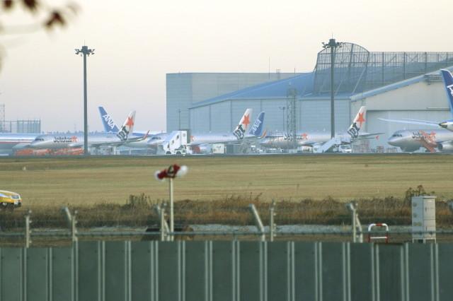成田で撮影された成田の航空機写真