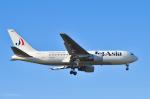 パンダさんが、成田国際空港で撮影したジェット・アジア・エアウェイズ 767-246の航空フォト(写真)