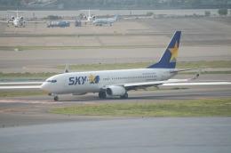 TAGUさんが、羽田空港で撮影したスカイマーク 737-8Q8の航空フォト(飛行機 写真・画像)