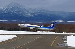 夏奈さんが、中標津空港で撮影した全日空 737-881の航空フォト(飛行機 写真・画像)