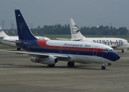 やまっちさんが、スカルノハッタ国際空港で撮影したスリウィジャヤ航空 737-2B7/Advの航空フォト(飛行機 写真・画像)