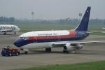 やまっちさんが、スカルノハッタ国際空港で撮影したスリウィジャヤ航空 737-284/Advの航空フォト(写真)