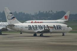 やまっちさんが、スカルノハッタ国際空港で撮影したバタビア航空 737-2T4/Advの航空フォト(飛行機 写真・画像)