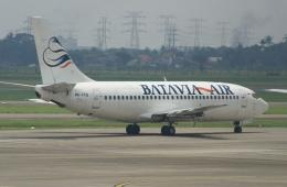 やまっちさんが、スカルノハッタ国際空港で撮影したバタビア航空 737-2Q8/Advの航空フォト(飛行機 写真・画像)