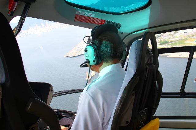 ノエビア遊覧飛行の搭乗レビュー写真