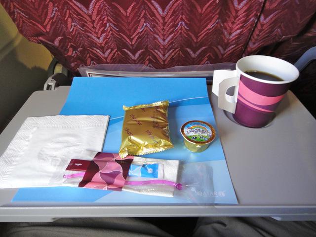 QR544の搭乗レビュー写真