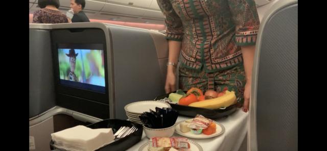 SQ621の搭乗レビュー写真