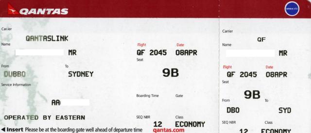 QF2045の搭乗レビュー写真